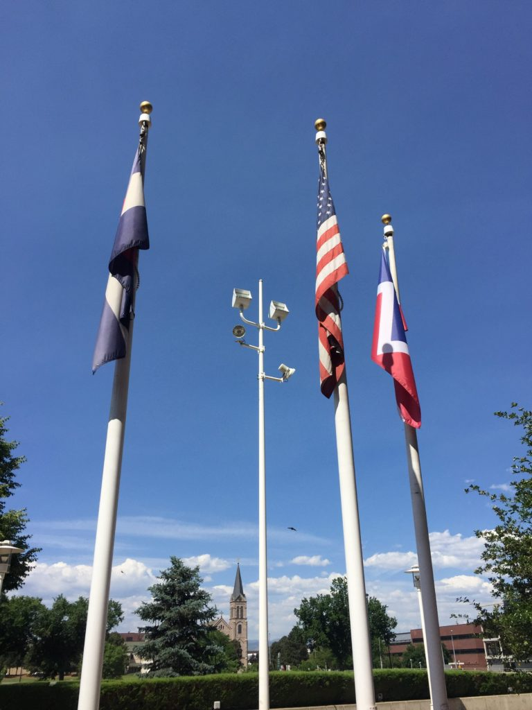 Flags in Sculpture Park, Denver